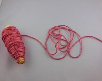 Dark salmon color rayon twisted cord