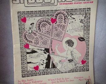 Vintage Sheet Music, Music Room Decor,Piano and Guitar Sheet Music,Valentine Music, Old Music Book.Scrapbook Sheets, Love Songs.Gershwins