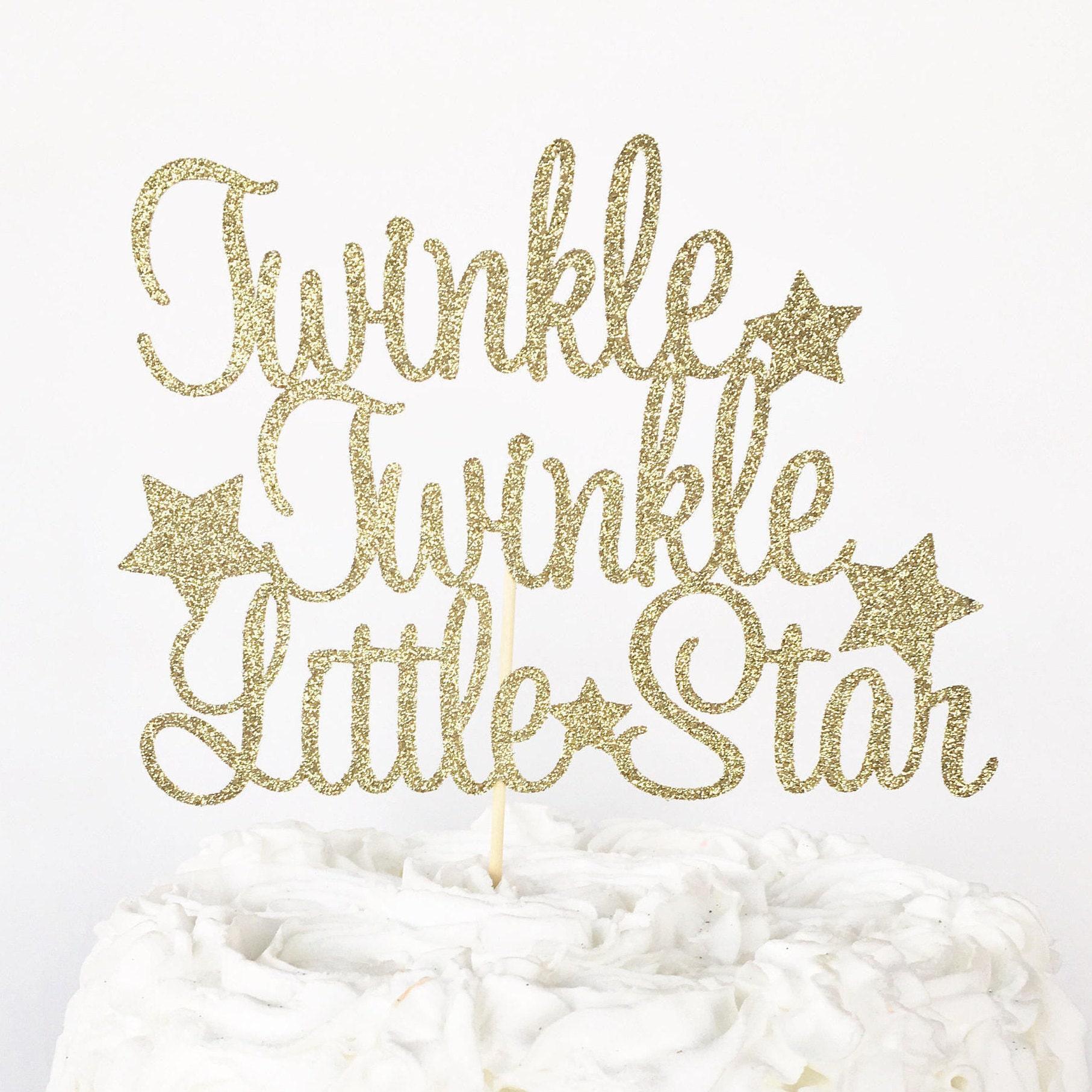 Twinkle Twinkle Little Star Cake Topper Gender Reveal Cake