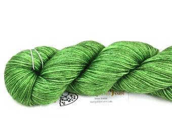 Fresh--hand dyed sock weight yarn, merino and silk, (437yds/100gm)