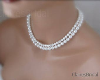 Bridal Necklace Pearl Wedding Jewelry Bride Necklace On Wedding Day