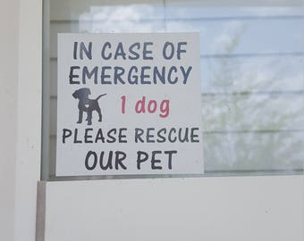 In Case of Emergency Save our Pets, Save our animals