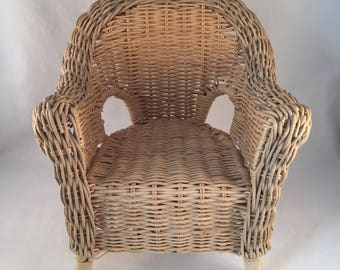 Large Wicker Doll Chair, Display Piece, Use For Decor, Holding Your  Favorite Doll