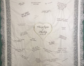 Marriage Tips, Marriage Quilt, Newly Wed Gift, Wedding Gift, Love Quilt, The Perfect Gift, Wedding Gift