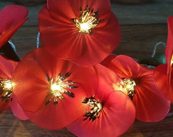 10 Bulb Poppy Fairy Lights