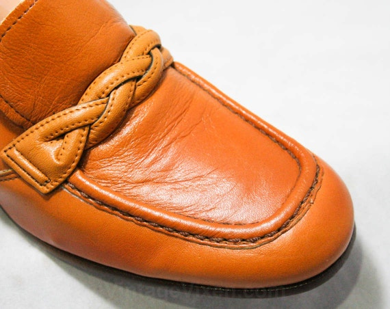 Style Unworn 4 60's 44153 Leather Loafers Hipster Shoes Loafer Shoes Caramel Size 60s Quality 1960s Deadstock Nice 7 60s UwO6pO