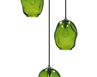 Olive River Rock Cluster Pendant Chandelier Hand Blown Pendants Globes Pendant Lighting