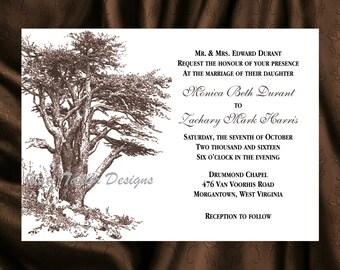 Tree Invitation & RSVP - Tree Wedding Invitation - Oak Tree Wedding Invitation - Tree Invitation - Tree Design 33