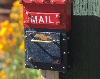Miniature Mailbox 1:12 Scale Dollhouse Accessory
