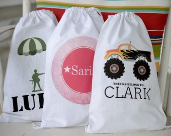 Drawstring Toy Bags - Personalized - Gift Bag - Star Wars Monster Truck