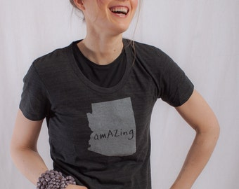 arizona tshirt, women's shirt, arizona shirt, graphic t, witty tshirt, free ship