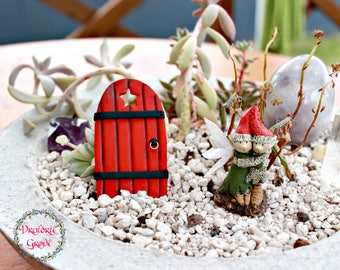 Fairy Door - Custom Fairy Door - Fairy Garden Accessories - Druidrie Grove - Polymer Clay Fairy Door - Fairy Garden - Fairy Garden