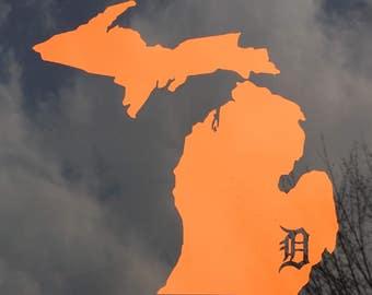 Michigan/Detroit Tigers Car Decal