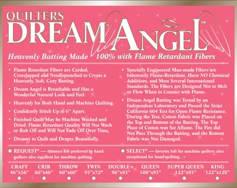 "Quilters Dream Angel Select Crib Size Batting 46"" x 60"""