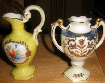 Pair of Miniature Vases, Porcelain