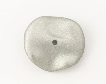 22mm x 24mm Matte Silver Wavy Disc (4 Pcs) #UP595