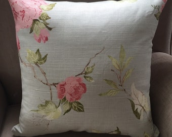 Cushion Cover/Pillow in Vintage Upholstery Floral Fabric from the UK.