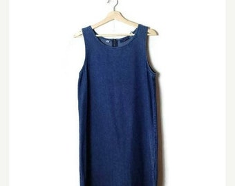 ON SALE Vintage Denim Sleeveless  Casual Dress from 90's*