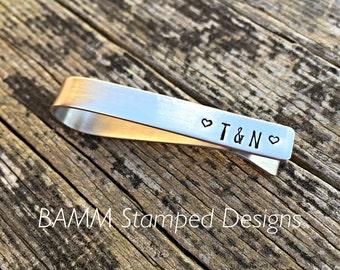 Personalised Stainless steel Tie Clip