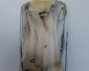 Distressed Burned Blouse