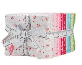 First Romance Fat Quarter Bundle - Moda Fabric - Kristyne Czepuryk Fabric Small Scale Fabric Quilt Fabric Collection of 37 Fabrics 8400AB