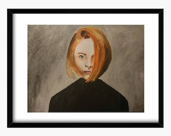 Original watercolor, Redhead watercolor, mothers day, Portrait watercolor, Woman painting, original painting, redhead painting, portrait