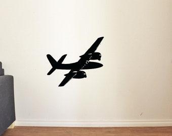 Most Beautiful Airplane Wall Decal for Nursery Boy Room Decor Vinyl Stickers MK0023