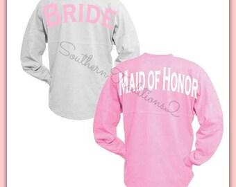 Bridal Party Jersey - Monogram Spirit shirt - Wedding Oversized Jersey - Wedding party Jersey - Large orders welcome