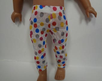 Polka Dotted Knit Leggings for 18 Inch Dolls--Shown on my American Girl Doll
