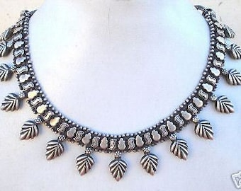 Traditional Design Solid Silver Necklace Chain Rajasthan India