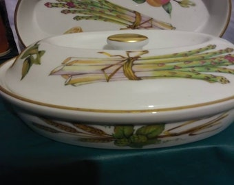 Vintage Ovenproof 3 pc Decorated Casserole, Serving or Vegetable Dishes Set