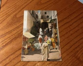 Antique Postcard TUNIS Rue Arabe d la Casbah  1910  PC623
