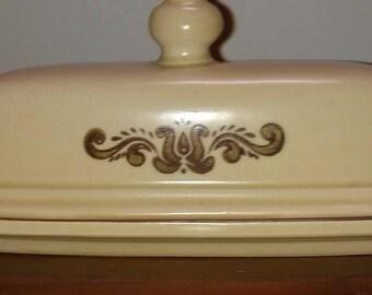 "Vintage 1970""s Pfaltzgraff Butter Dish... Village USA pattern"