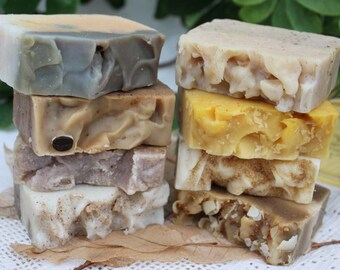 Luxury Holiday Organic Soaps Gift Set Four Piece Christmas Gift Soap Set Organic Soap Set Choose Four 7.95 Priced Organic Soap Bars