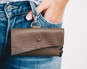 Schlüssel Kette Tasche, Leder Keychain Geldbörse, Schlüssel Kette Credit Card Wallet, Womans Brieftasche, Leder-Gürteltasche, Frauen edc