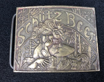 Schlitz beer belt buckle