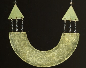 U-Turn Brass Necklace