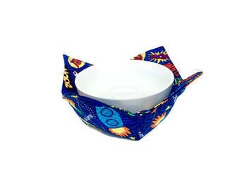 Space Ship and Super Hero Bowl Cozy for Kids, Child's Bowl Hot Pad, Reversible Bowl Cozy, Soup Bowl Potholder