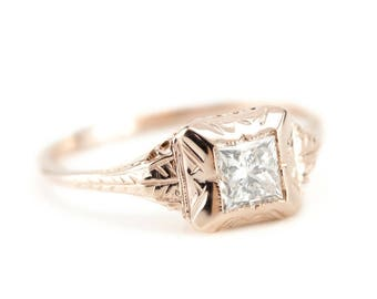 Diamond Engagement Ring in The Elwyn Setting from The Elizabeth Henry Collection TVH3HMHF-R