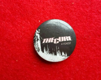 Rare Vintage The Cure Badge A Forest