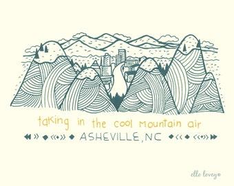 Asheville - Art Print 5x7, 8x10, 11x14