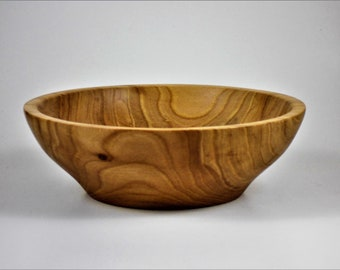 Hand urned red elm bowl