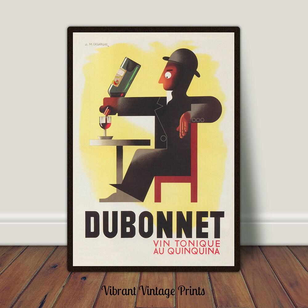 Dubonnet Vin Tonique Beverage Print Bar Decor Print Vintage