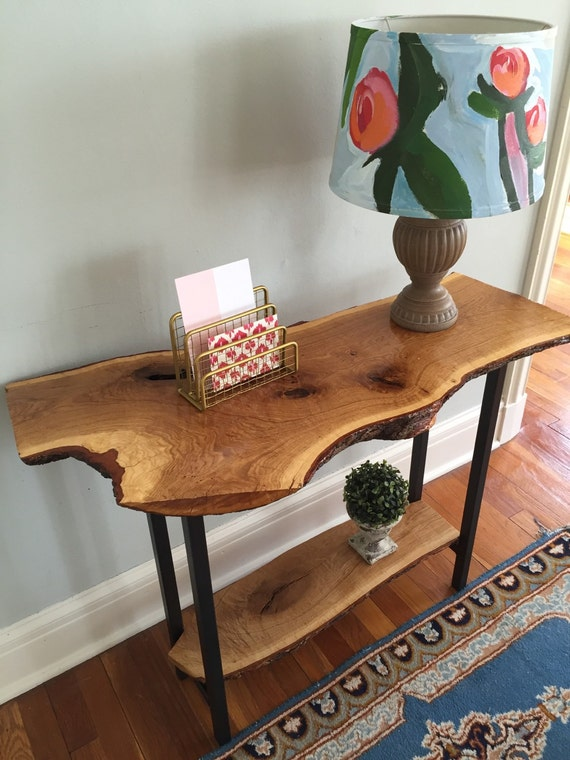 Live Edge Entryway Table Console Table Sofa Table Rustic