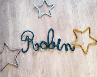 Name of knitting with star shapes