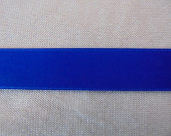 Double faced satin ribbon, royal blue (S-0040)