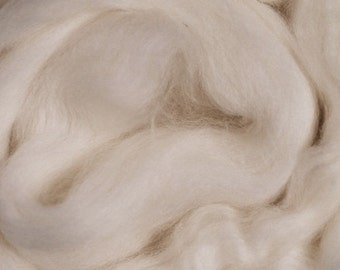 British Falkland Roving 16 oz Alba Ranch Beginner Wool Undyed Spinning Wool Natural Ecru