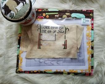 Farm Fun - Zippered Needlework Project Bag