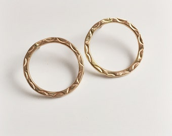 open circle earrings, 14k gold fill studs, minimalist earrings, everyday dainty delicate, small hoops, simpled big circle studs