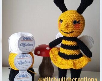 BELLE BEE - Amigurumi Crochet Pattern - PDF download - Pattern Only